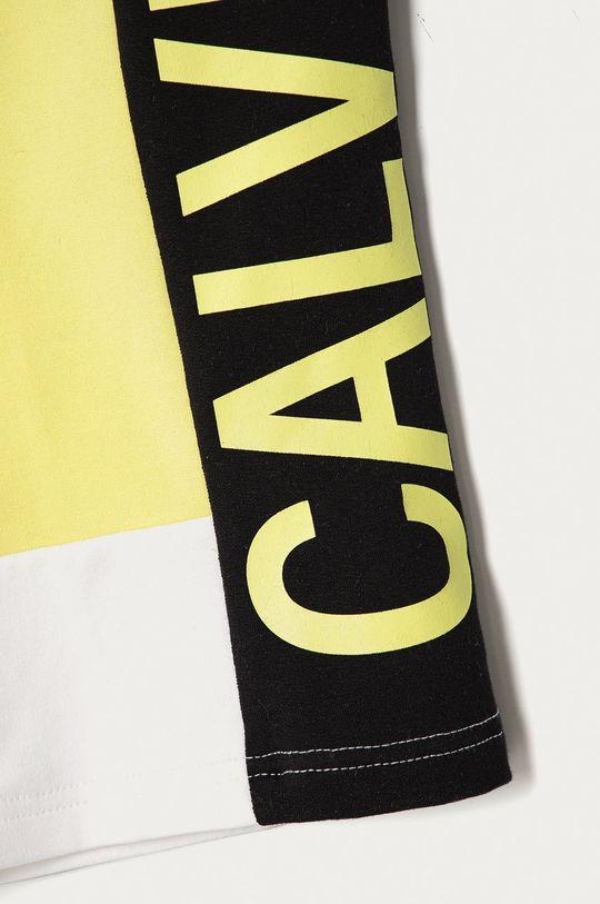 Calvin Klein Jeans - Dětské kraťasy 116-176 cm. jasně žlutá