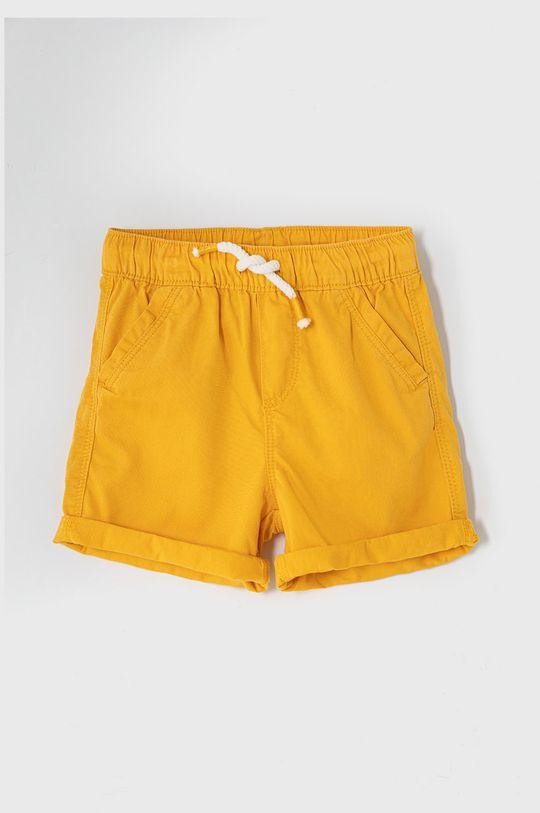 svetlo oranžová OVS - Detské krátke nohavice 80-98 cm Chlapčenský