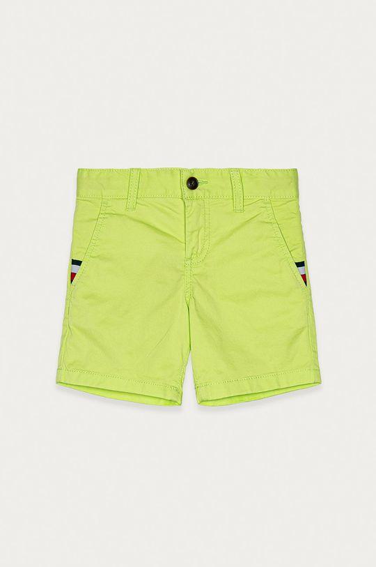 żółto - zielony Tommy Hilfiger - Szorty dziecięce 92-176 cm Chłopięcy