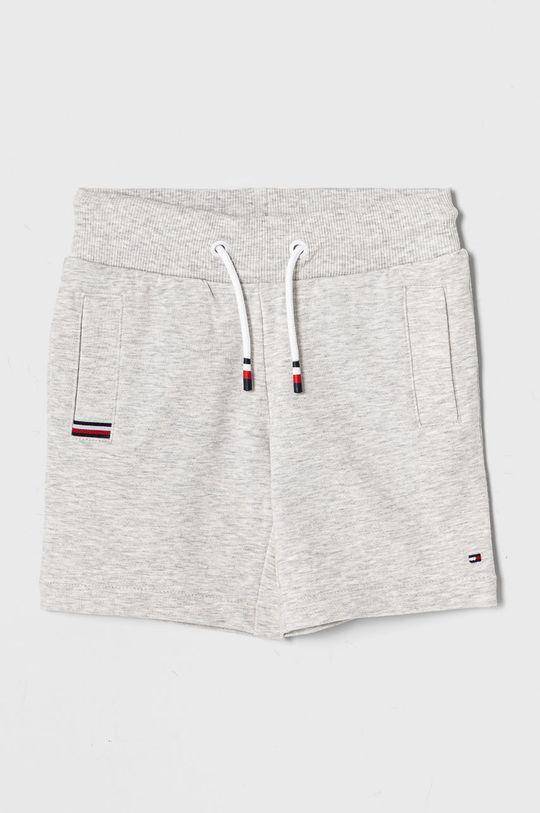 svetlosivá Tommy Hilfiger - Detské krátke nohavice 98-176 cm Chlapčenský