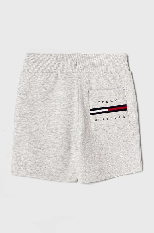 Tommy Hilfiger - Detské krátke nohavice 98-176 cm svetlosivá