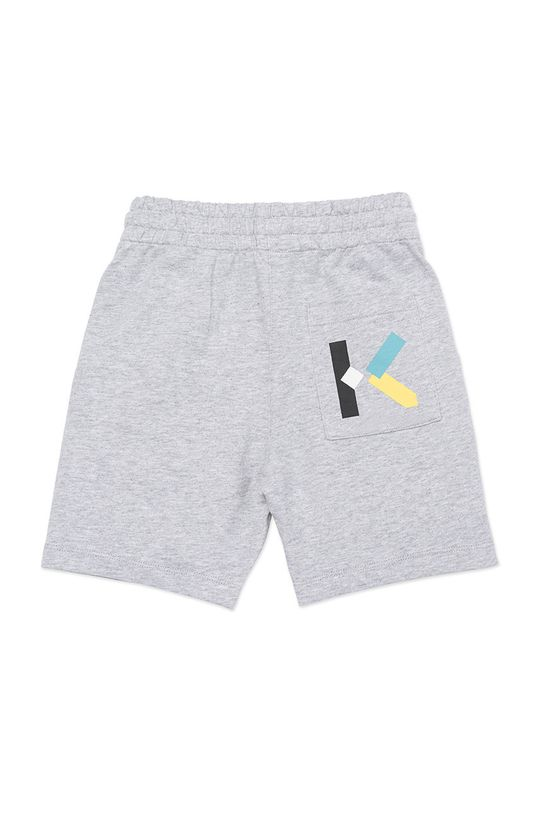 KENZO KIDS - Detské krátke nohavice svetlosivá