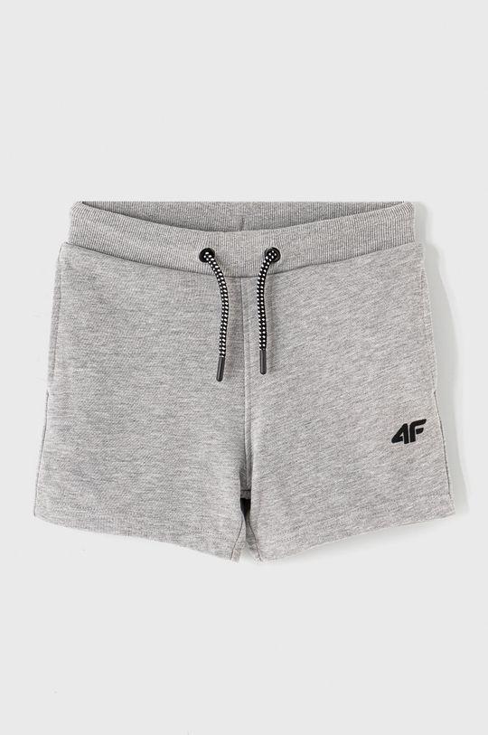 svetlosivá 4F - Detské krátke nohavice 122-164 cm Chlapčenský