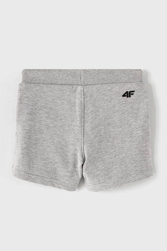 4F - Detské krátke nohavice 122-164 cm svetlosivá
