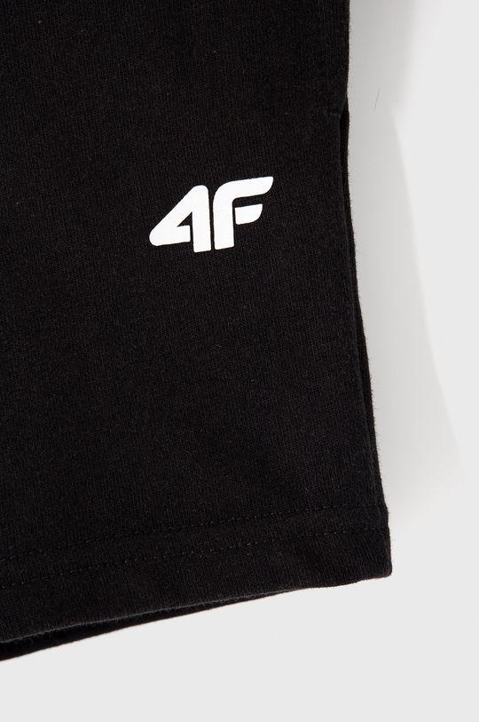 4F - Detské krátke nohavice 122-164 cm čierna