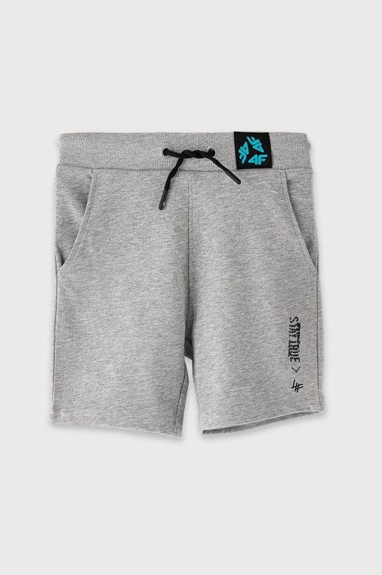 sivá 4F - Detské krátke nohavice 122-164 cm Chlapčenský