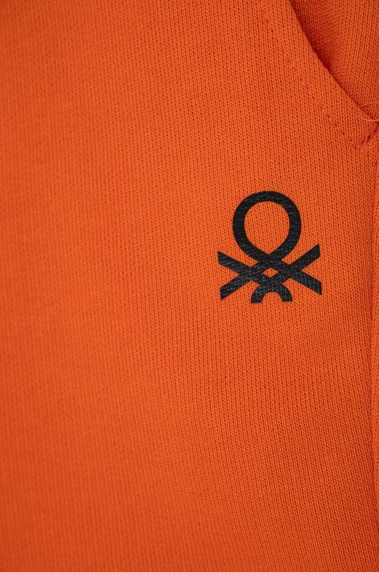 United Colors of Benetton - Dětské kraťasy mandarinková