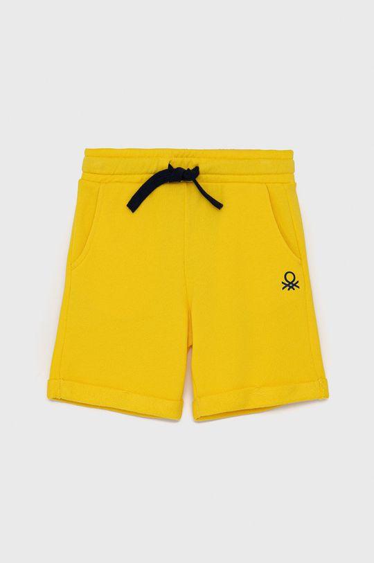 žlutá United Colors of Benetton - Dětské kraťasy Chlapecký