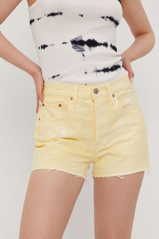 żółty Levi's - Szorty jeansowe Damski