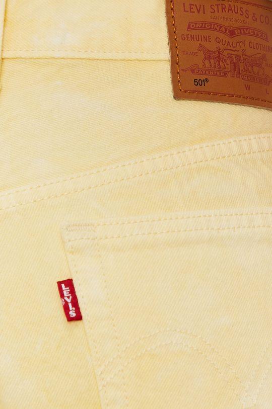 żółty Levi's - Szorty jeansowe