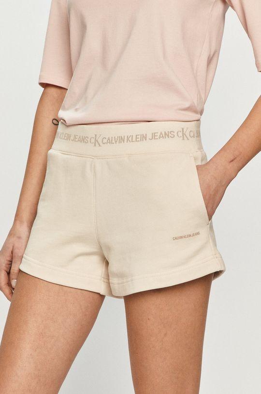 piaskowy Calvin Klein Jeans - Szorty Damski
