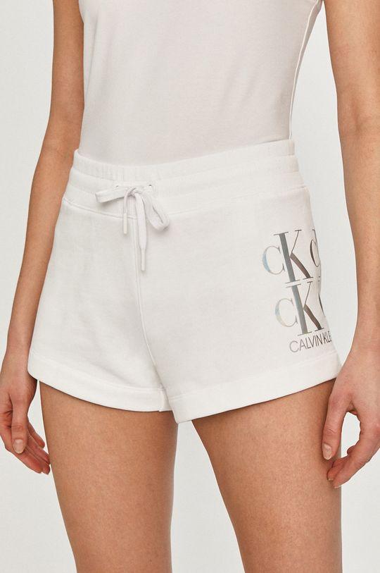 bílá Calvin Klein Jeans - Kraťasy Dámský