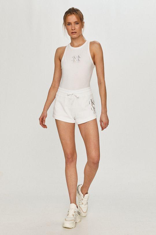 Calvin Klein Jeans - Kraťasy bílá