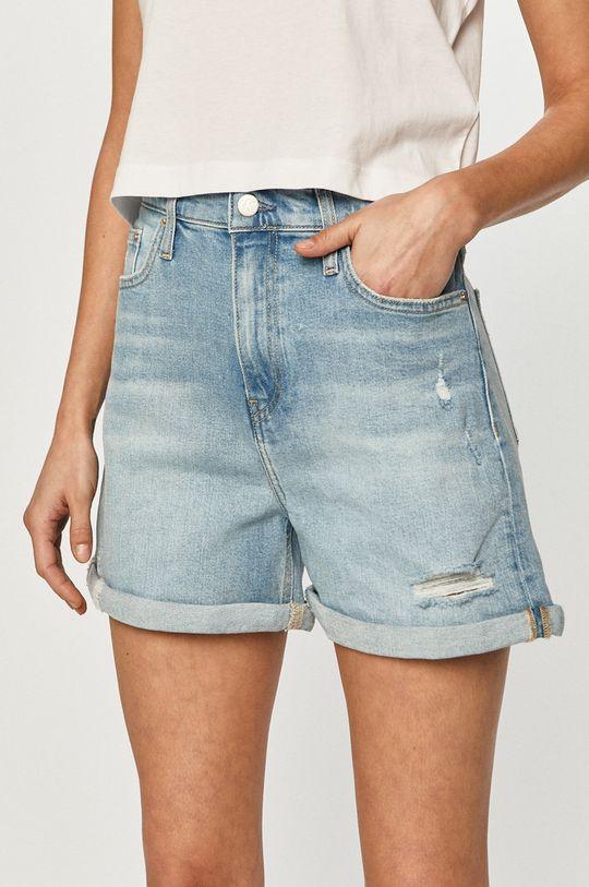 modrá Calvin Klein Jeans - Rifľové krátke nohavice Dámsky
