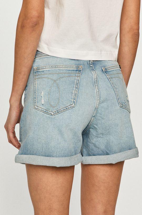 Calvin Klein Jeans - Rifľové krátke nohavice  99% Bavlna, 1% Elastan
