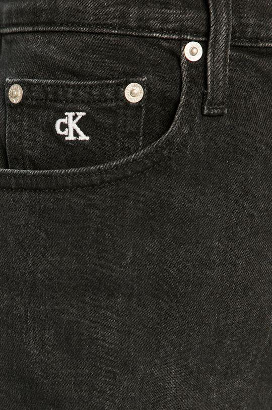 čierna Calvin Klein Jeans - Rifľové krátke nohavice
