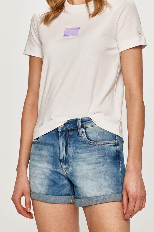 modrá Calvin Klein Jeans - Džínové šortky Dámský