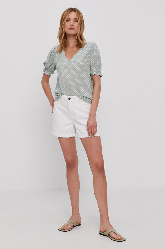 Noisy May - Szorty jeansowe biały