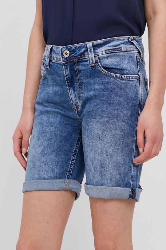 niebieski Pepe Jeans - Szorty jeansowe Poppy Damski