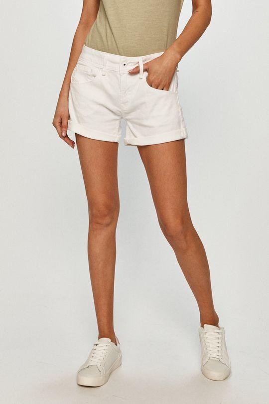 biały Pepe Jeans - Szorty jeansowe Siouxie Damski