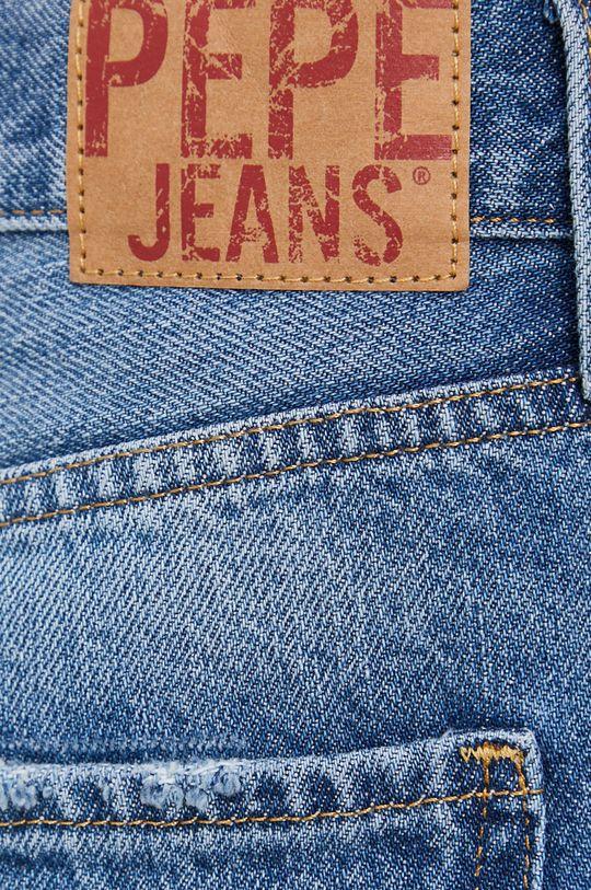 niebieski Pepe Jeans - Szorty jeansowe Mable