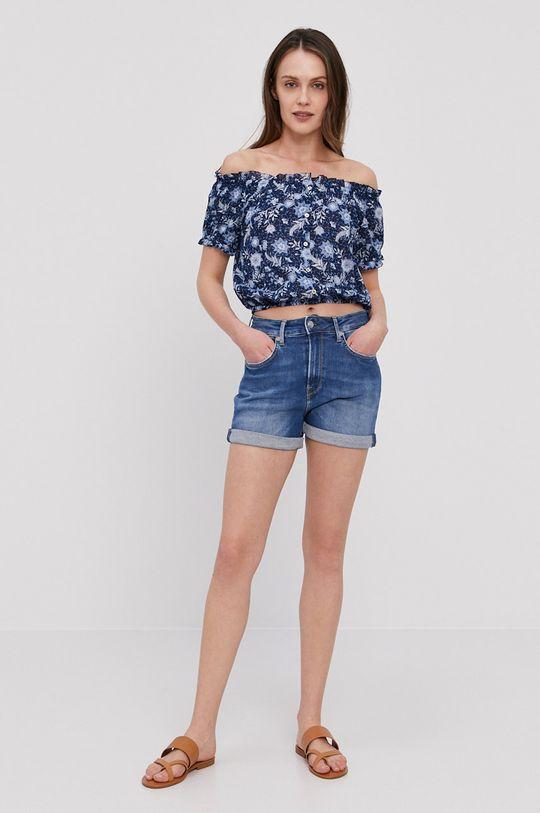 Pepe Jeans - Szorty jeansowe Mary Archive niebieski