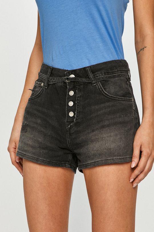 černá Pepe Jeans - Džínové šortky Bonita Destroy Dámský