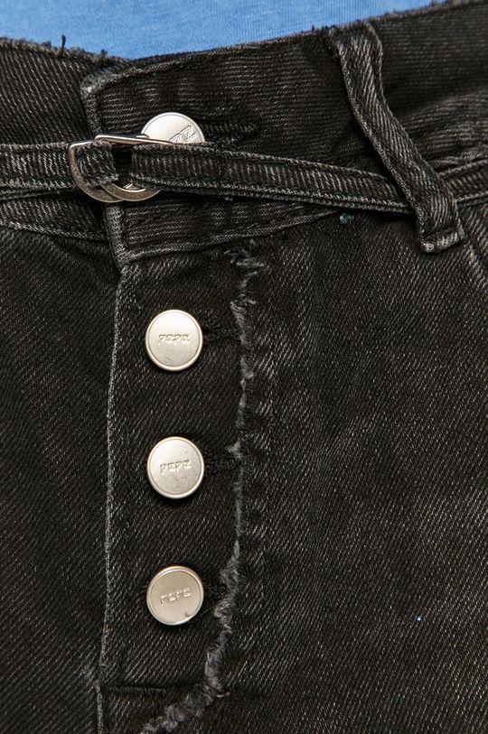 černá Pepe Jeans - Džínové šortky Bonita Destroy
