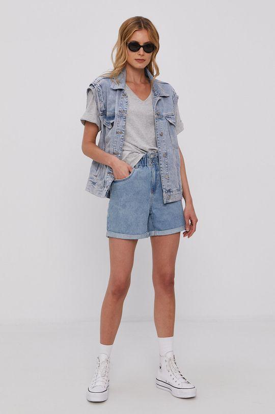 niebieski Vero Moda - Szorty jeansowe Damski