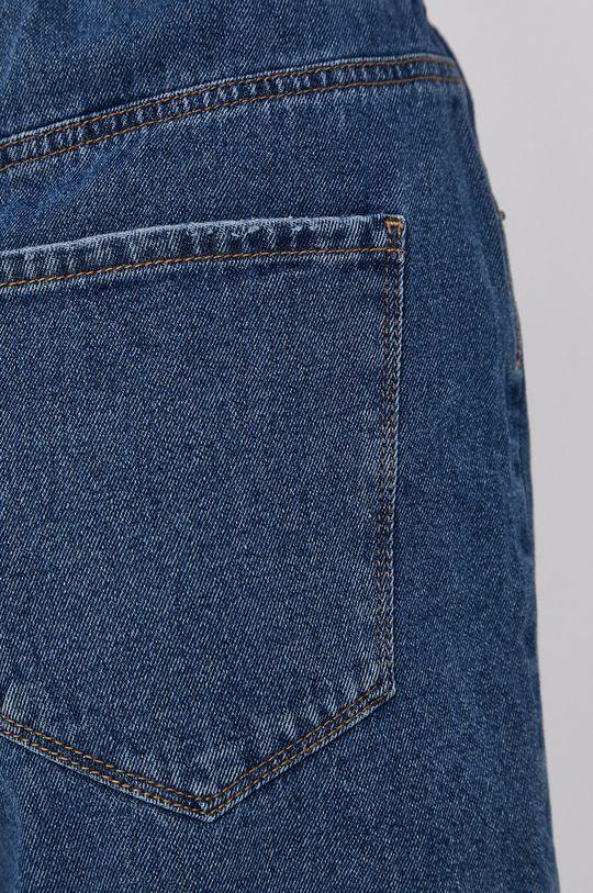 tmavomodrá Vero Moda - Rifľové krátke nohavice