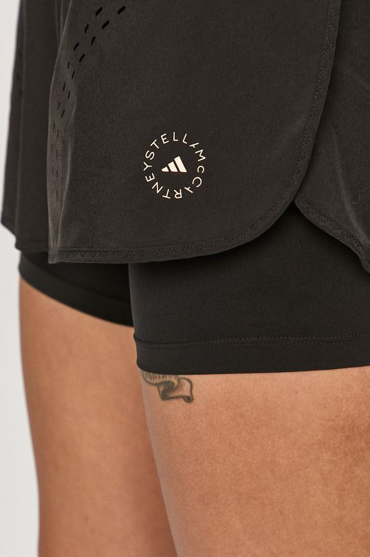 czarny adidas by Stella McCartney - Szorty