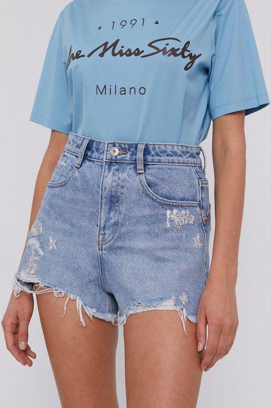 modrá Miss Sixty - Rifľové krátke nohavice Dámsky