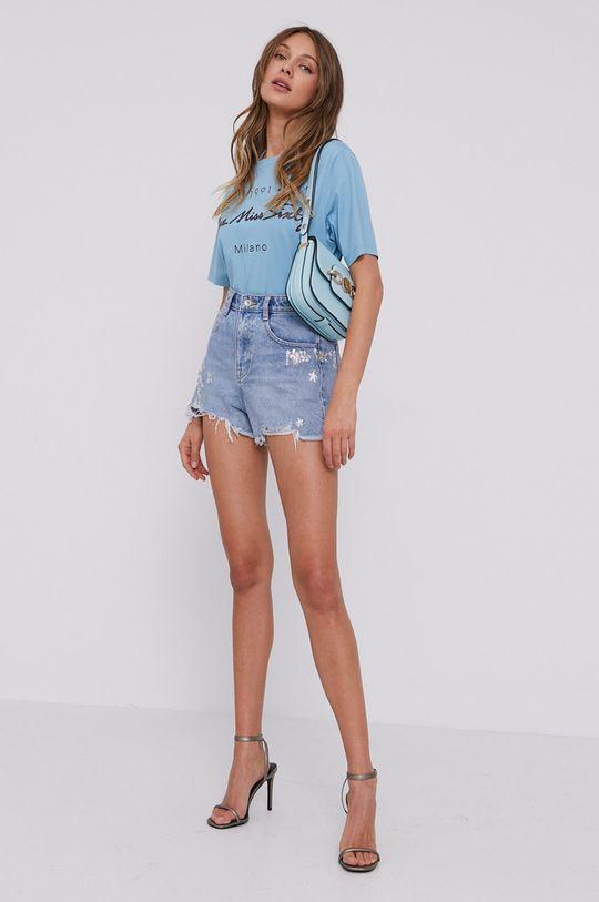 Miss Sixty - Rifľové krátke nohavice modrá