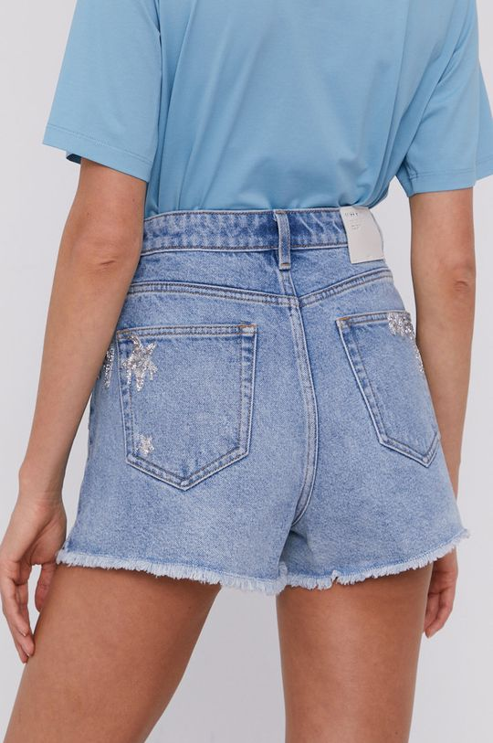 Miss Sixty - Rifľové krátke nohavice  100% Bavlna