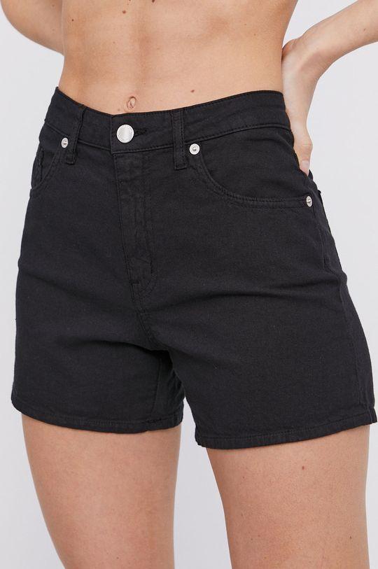 čierna Love Moschino - Rifľové krátke nohavice Dámsky