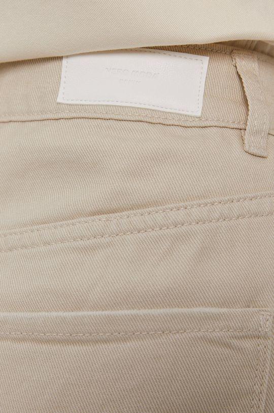 kremowy Vero Moda - Szorty jeansowe