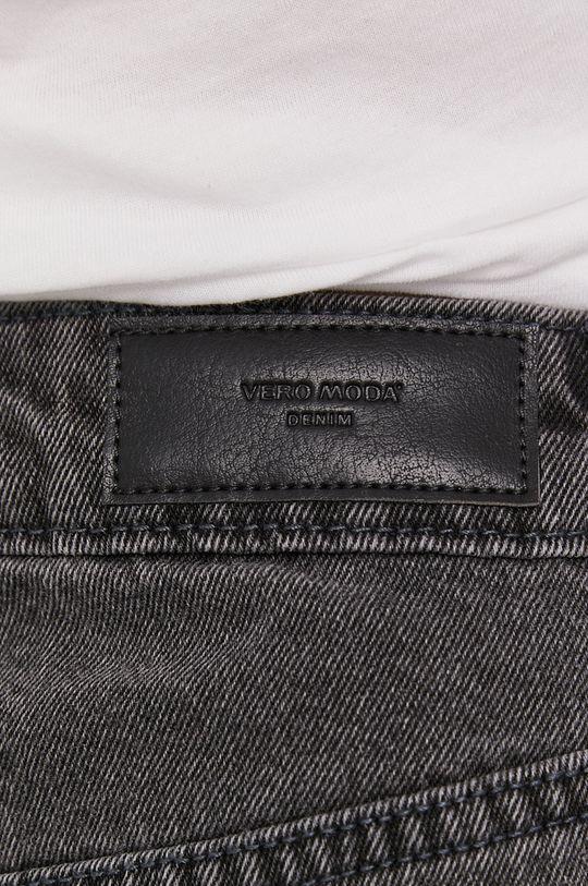 sivá Vero Moda - Rifľové krátke nohavice