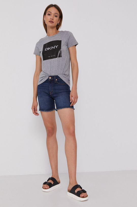 Dkny - Szorty jeansowe granatowy