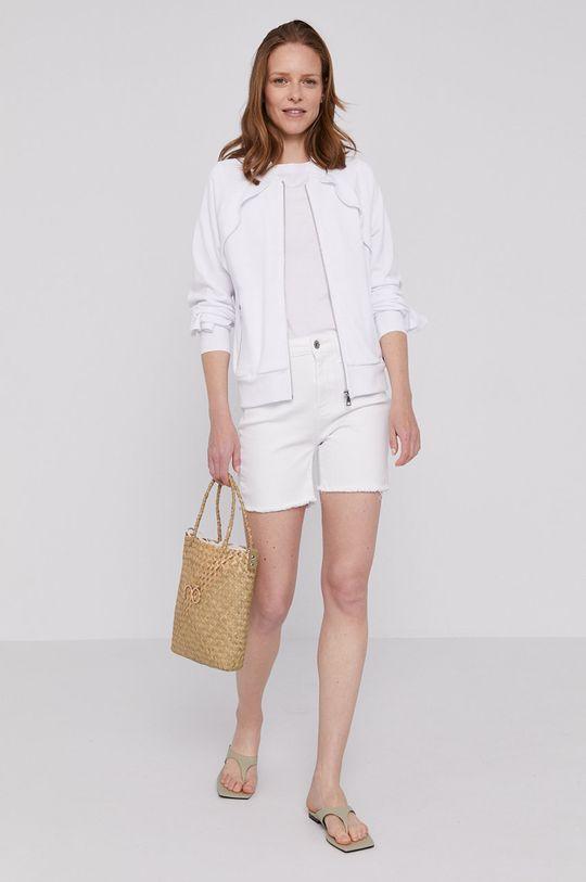 Dkny - Rifľové krátke nohavice biela
