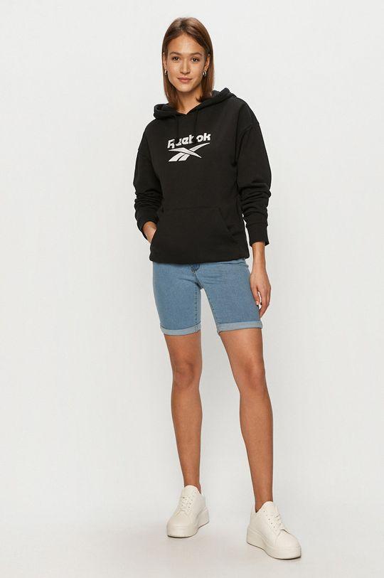 Vero Moda - Rifľové krátke nohavice modrá