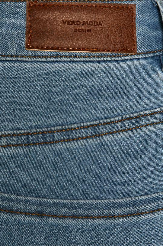 modrá Vero Moda - Rifľové krátke nohavice