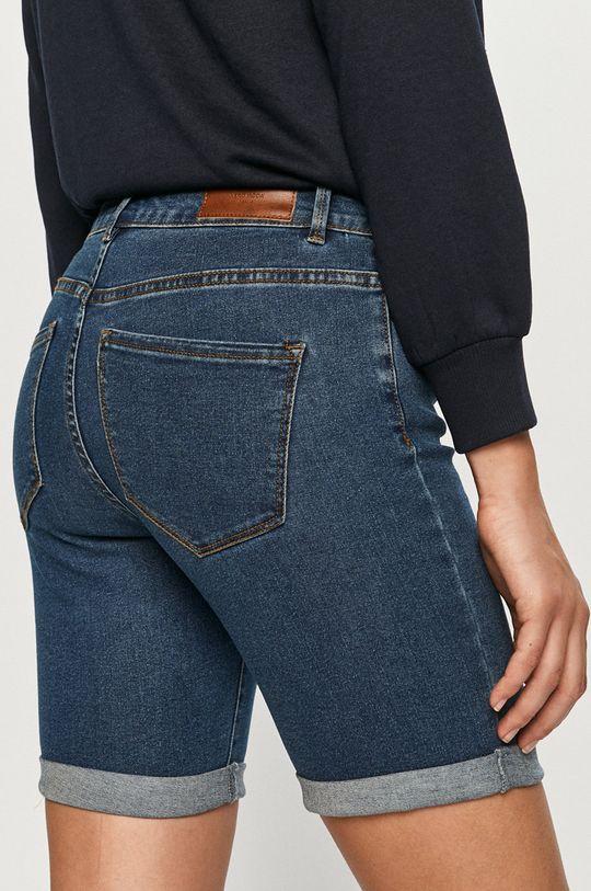 Vero Moda - Rifľové krátke nohavice  72% Bavlna, 2% Elastan, 26% Polyester