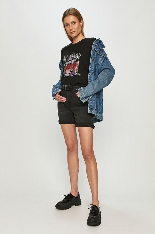 Vero Moda - Szorty jeansowe czarny