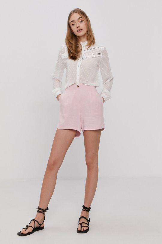Vero Moda - Szorty pastelowy różowy