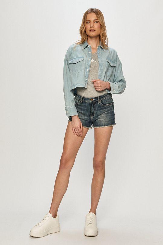 Armani Exchange - Pantaloni scurti jeans albastru