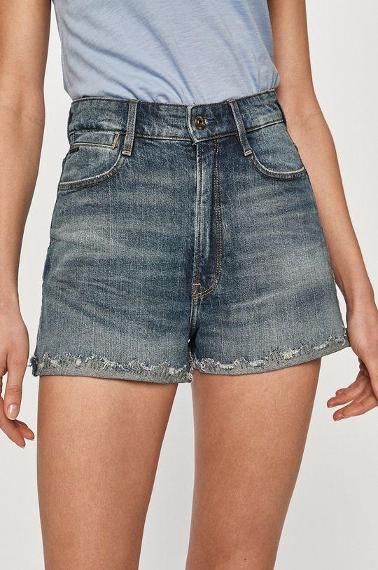 albastru G-Star Raw - Pantaloni scurti jeans De femei