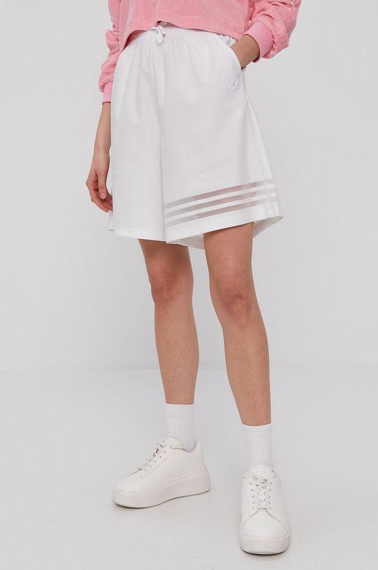 biały adidas Originals - Szorty Damski