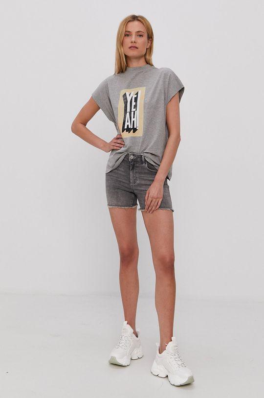 Only - Szorty jeansowe szary