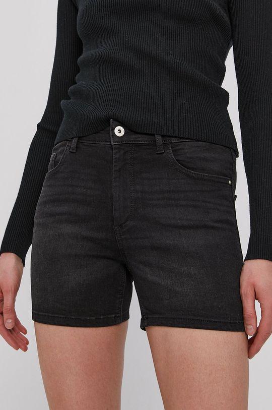 Only - Szorty jeansowe czarny