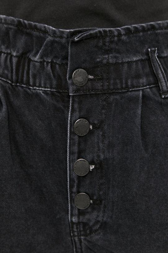grafitová Only - Rifľové krátke nohavice